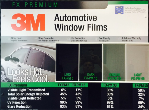 Glass coating and tinting ontario california and 3m Automotive interior protective film
