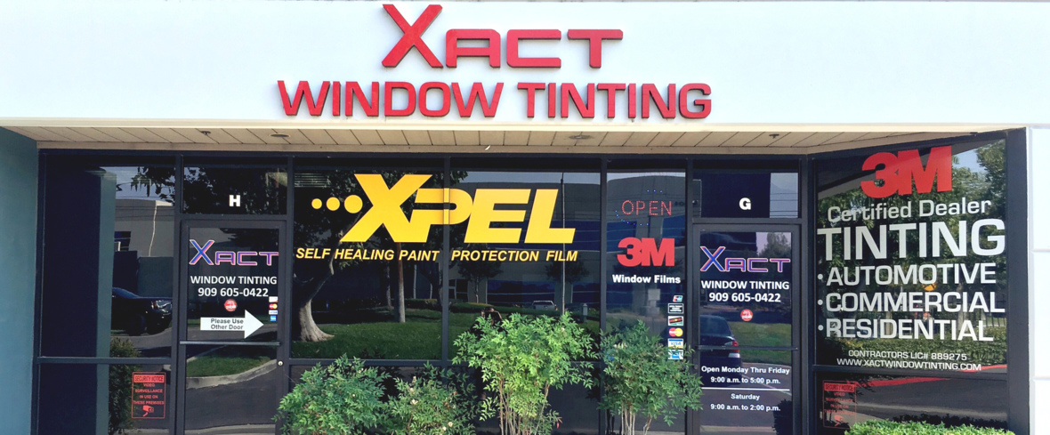 Xact Window tinting in Ontario California and Rancho Cucamonga, #1 Choice in the Inland Empire.